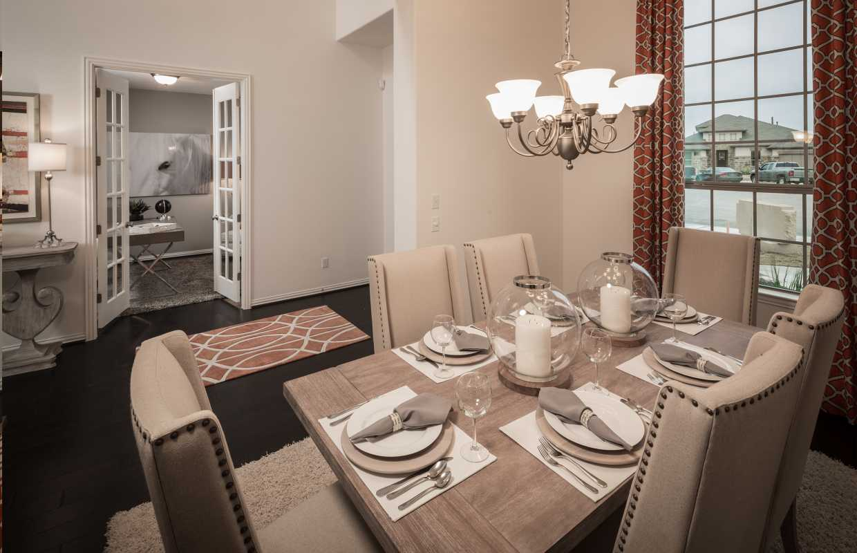 Model Home Dining Rooms model home monday: highland homes at santa rita ranch-north
